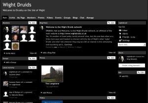 Wight Druids interactive website